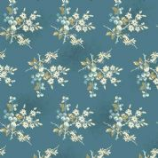 Makower UK - Something Blue - 6043 - Freshberries Floral on Ocean Blue - 8824_B - Cotton Fabric